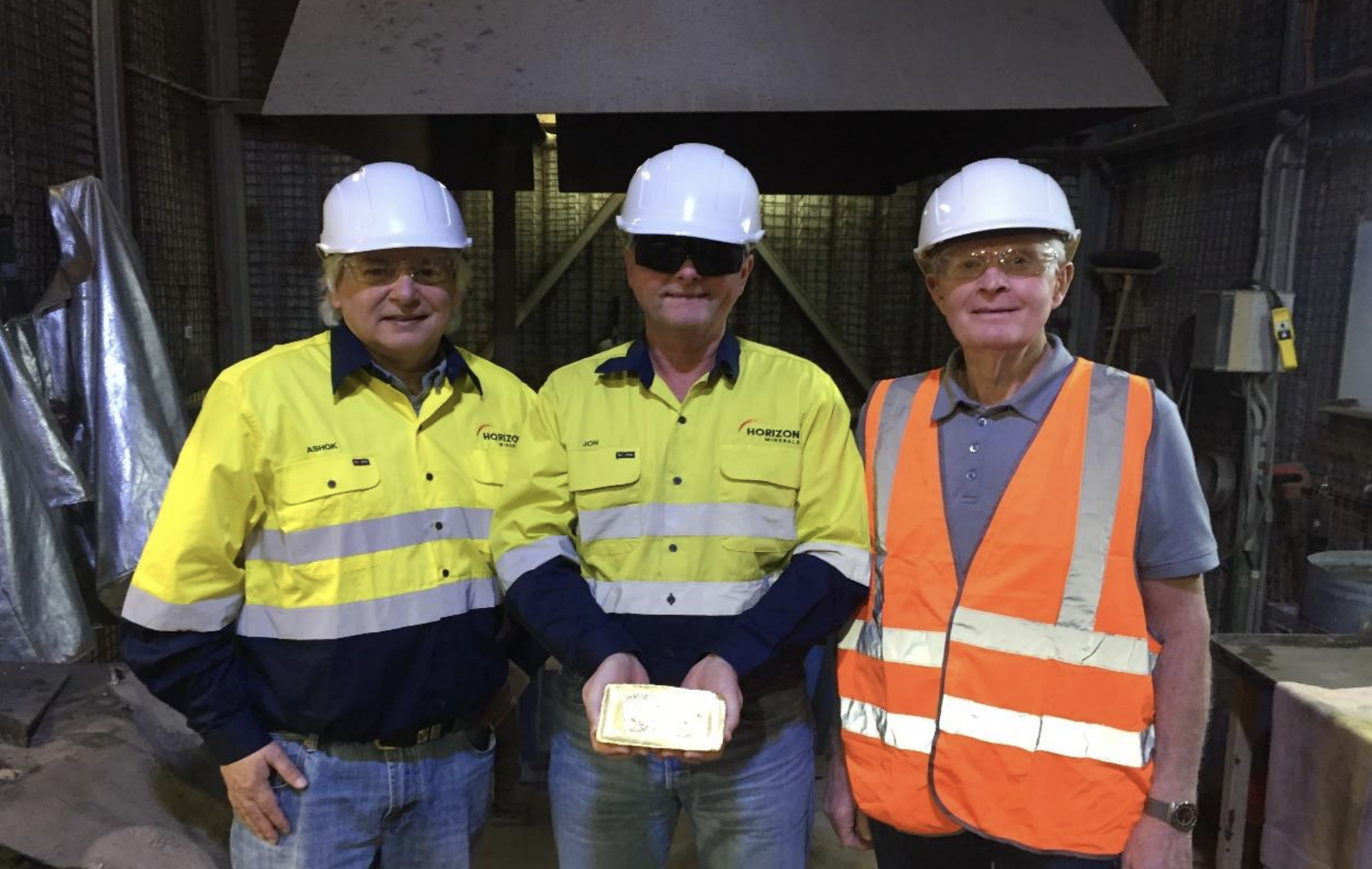 The first gold pour for Horizon Minerals - Supplied